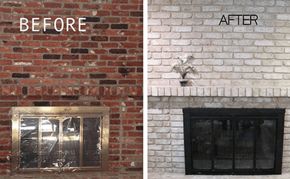 How-To-Remove-Paint-From-A-Brick-Fireplace