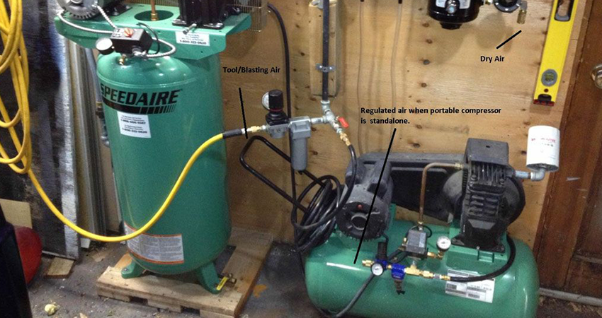 How much space is needed for an air compressor