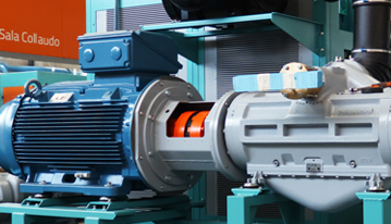 Rotary vane air compressor's working process