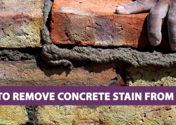 How to Remove Concrete Stain From Brick
