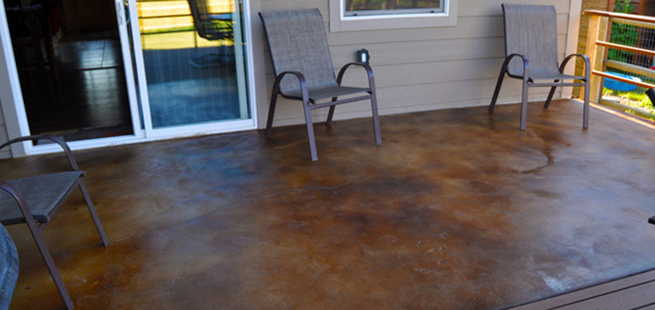 How Long To Leave Acid Stain On Concrete